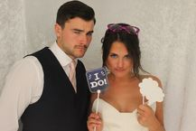 Wedding Photo booth fun at the Mas de la rose, Aix e Provence